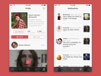 Social Music App Profile & Notifications