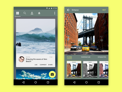 Adventure Sharing App Android  minimal neat clean material design android