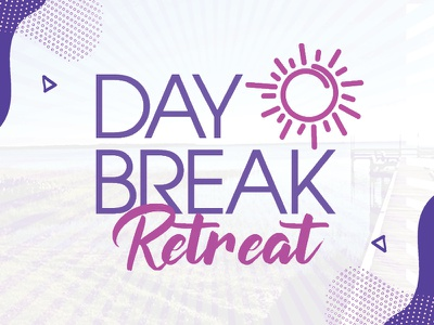Daybreak Retreat flat design branding website vector logo graphic design