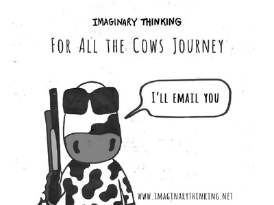 For All the Cows imaginarythinking terminator illustration cows forallthecows