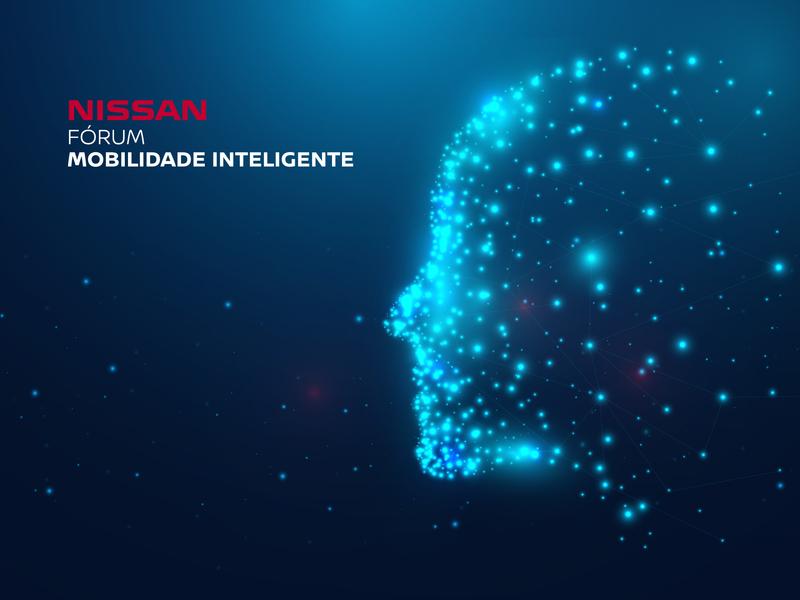 Nissan Intelligent Mobility Forum logo design cover brand illustration