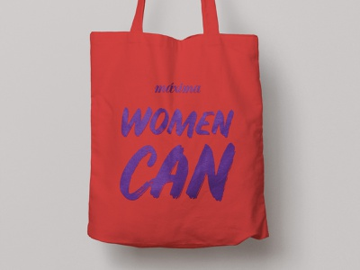 Woman Can brand type graphic graphicdesign woman maxima totebag
