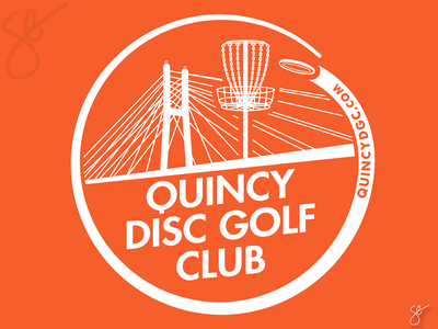Quincy Disc Golf Club product graphic branding logo separation screen print illustrator vector illustration design