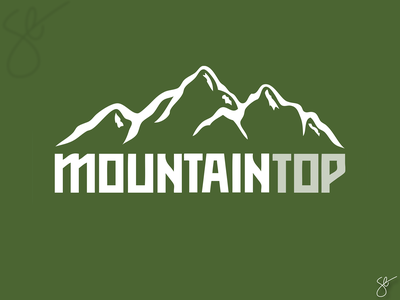 Mountain Top branding logo design logo apparel graphics screen print vector illustrator design