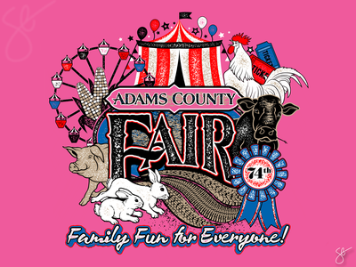 Adam's County Fair photoshop separation apparel graphics screen print illustration vector illustrator design