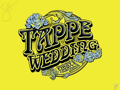 Tappe Wedding apparel graphics separation logo design procreate screen print illustration vector illustrator design