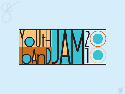 Youth Band Jam typography branding logo apparel graphics screen print vector illustrator design