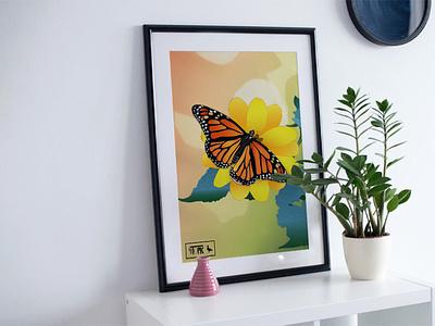Summer Posters flat vector print design print design illustration