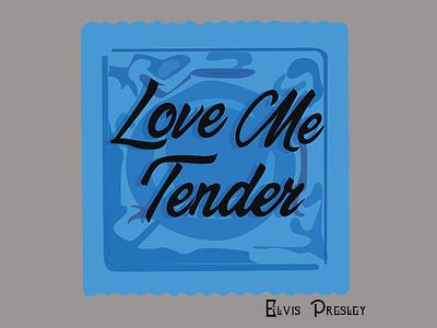 Love me Tender Condoms packagingdesign illustration packaging design packaging branding print design design