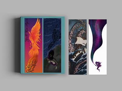 Mythical Bookmarks bookdesign book bookmarks bookmark print illustrator print design illustration design