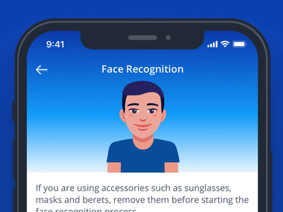 Face Recognition face recognition face id tutorial technology animation ui dribbble ux animation tutorial animation walkthrough