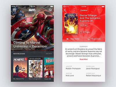 Marvel Comics series marvel doctor strange design comics book app