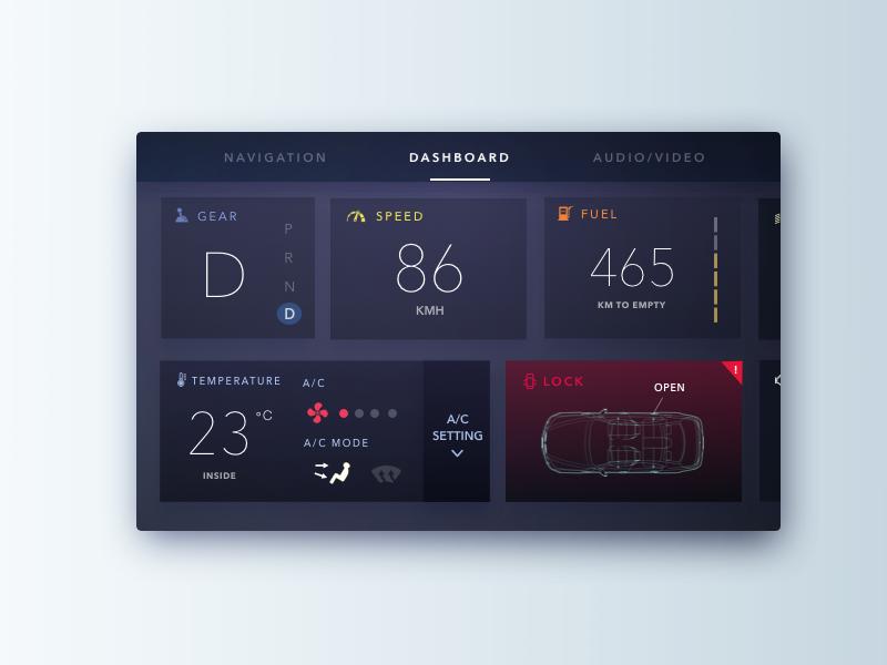 Car Interface car interface 034 dailyui