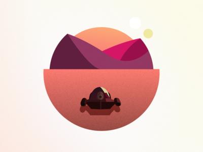Land Speeder on Tatooine