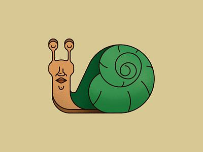 Snail man vector illustration vector art animal illustration illustrator noise grain shell human snail