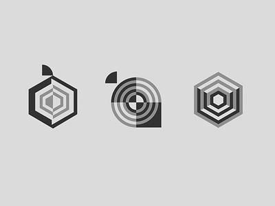 Geometric Onion mark core red onion onions branding logodesign geometric geometric shapes grey vector illustrator mark logos