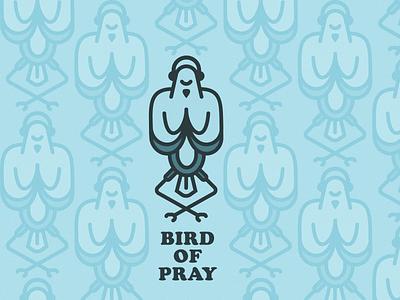 Bird of Pray design headphone headphones blue meditation praying pray illustration pattern brids bird