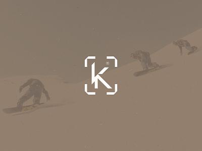 K Concept Mark letter mark flat lettermark letter typogaphy branding illustrator vector sportlogo sports adventure snowboard snowboarding mark k logo