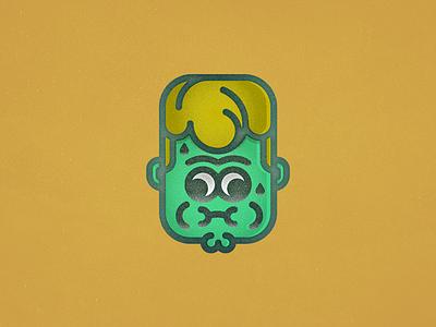 ugghh green feeling emote icon puke illustrator portrait
