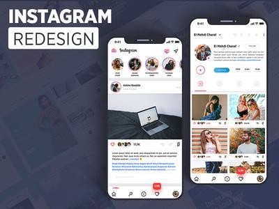 Instagram Redesign UI