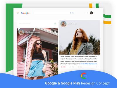 Google & Google Play Redesign Concept