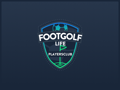 Footgolf Life Playersclub Badge neon dark badge logo