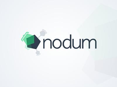 Logo nodum.io darkblue green pentagons code brackets logo