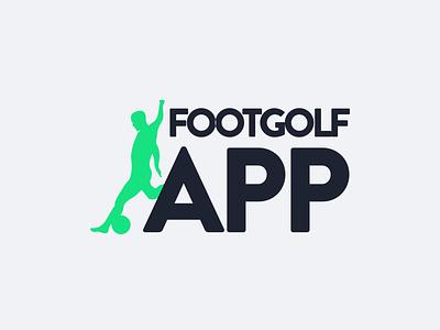 Logo for Footgolf App footgolf app green sports bold logo