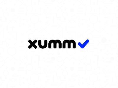 Logo for XUMM check black blue bold logo