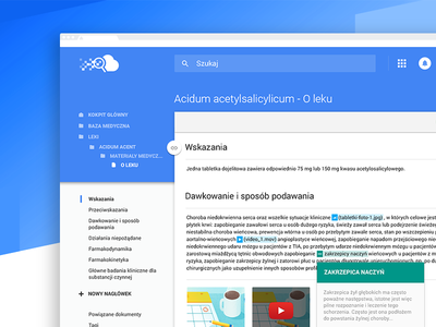 Powerful and Scalable Medical System responsive design interface design material design architectural planner uxui