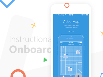 Video App geolocation photo video onboarding social ux ui app ios
