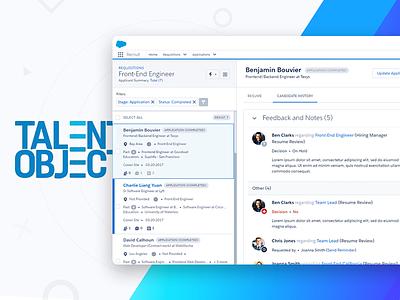 Simple Recruiting Platform system dashboard crm ui ux startup platform recruitment salesforce