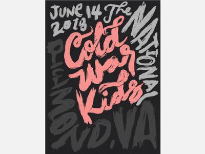Cold War Kids Gig Poster