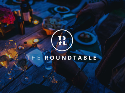 Roundtable Icon networking branding logo design