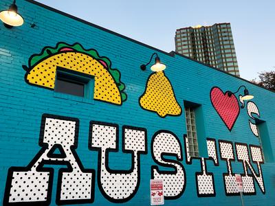 Taco Bell Loves Austin Mural