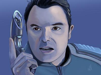 Ed Mercer illustrator the orville science fiction sci fi fan art realistic portrait digital portrait digital art photoshop illustration