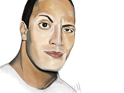 The Rock photoshop realism illustrator portrait illustration digital art digital painting
