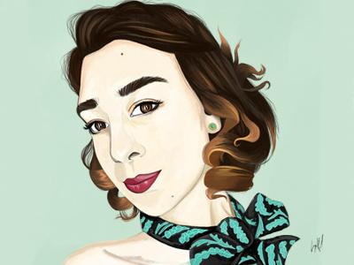 Self Portrait photoshop digital art self portrait illustration