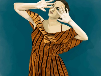 BLOCKED digital arts woman realism portrait digital portrait illustration digital painting digital art photoshop