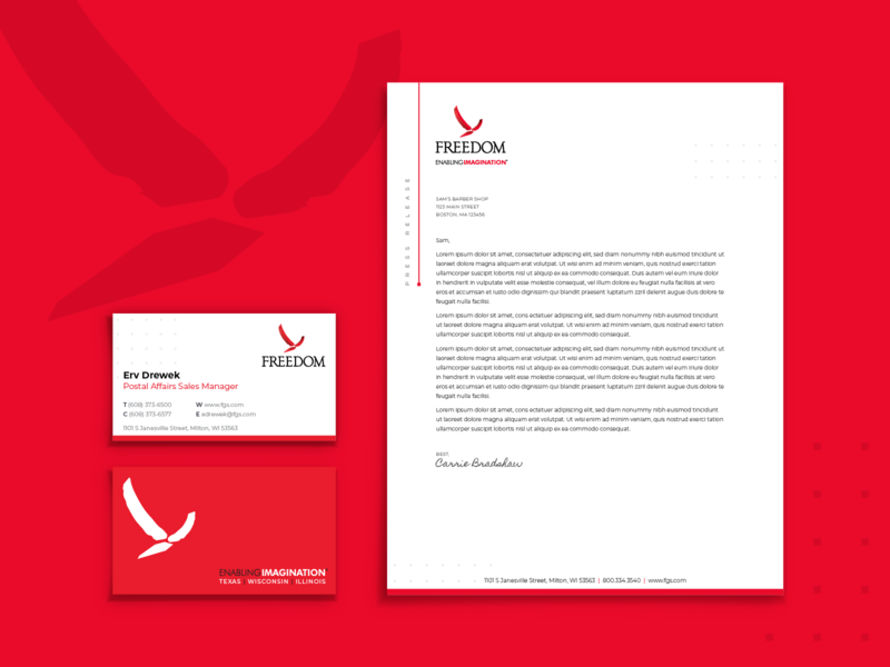 Freedom Graphics :: Stationery bird footer header contact print graphics graphic design stationary stationery letter head letterhead business cards logo branding brand