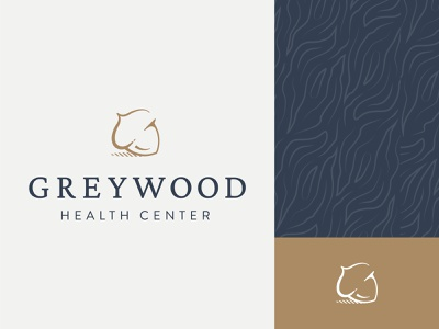 Greywood Health Center :: Brand Elements brand elements acorn pattern logo wood grain mental health modern nature iconography health minimal branding