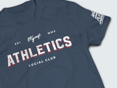 LLT Group :: Athletics Shirts lettering team merch tee shirt sports apparel tshirt design tshirt type