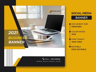 Social media banner flyer template poster design banner design business poster business banner