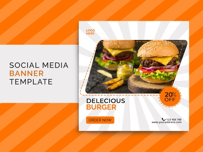 Social media post for  restaurant | Food Banner food banner banner template poster design flyer design banner design