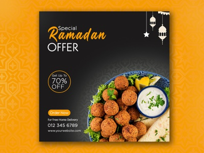 Social Media Post Design food banner social media design poster design banner design flyer design food bannner