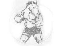 Boxing Horse Logo Sketch