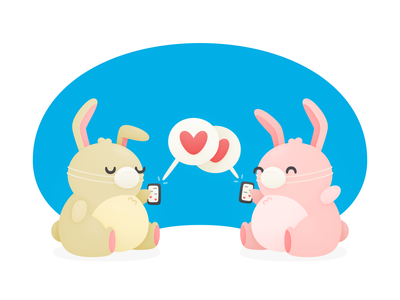 Coronavirus Buns mobile travel covid-19 love cute hopper illustration bunnies coronavirus