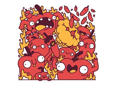 Silly Chillis hot chilli illustration