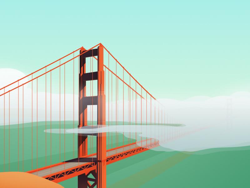 Golden Gate Bridge By Thomas Fitzpatrick Dribbble