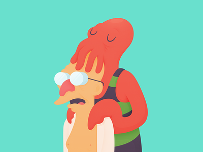 I'm So Into You love professor farnsworth zoidberg futurama illustration